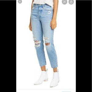 Frame Le Garson distressed jeans